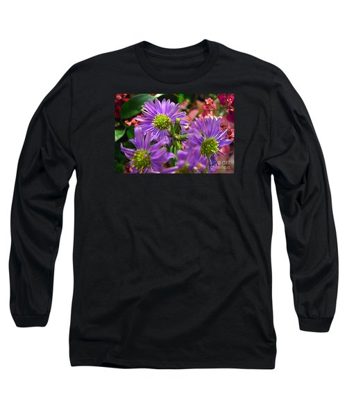 Long Sleeve T-Shirt featuring the photograph Blooming Asters by Merton Allen