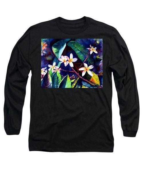 Blooming Plumeria Long Sleeve T-Shirt