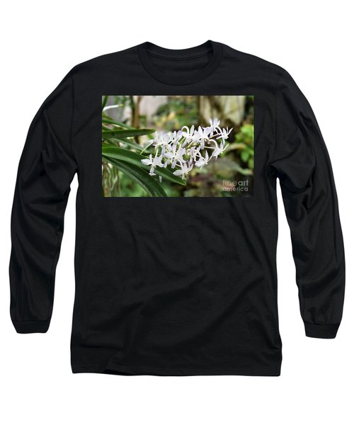 Blooming White Flower Spike Long Sleeve T-Shirt