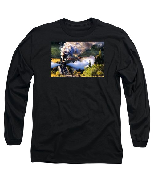 Long Sleeve T-Shirt featuring the photograph Blowdown On Lobato Trestle by Ken Smith