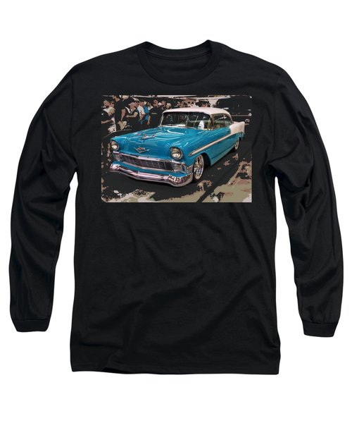 Long Sleeve T-Shirt featuring the photograph Blue '56 by Victor Montgomery