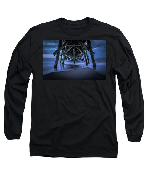 Blue And Gray Long Sleeve T-Shirt