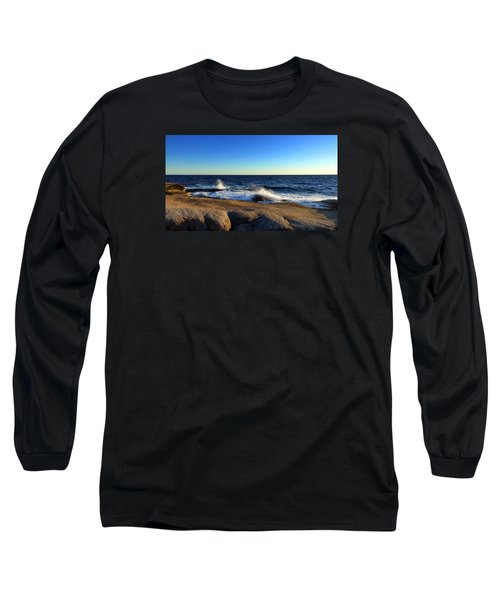 Blue Atlantic Long Sleeve T-Shirt by Heather Vopni