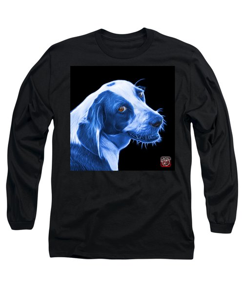 Blue Beagle Dog Art- 6896 - Bb Long Sleeve T-Shirt