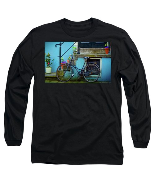 Blue Bike Long Sleeve T-Shirt