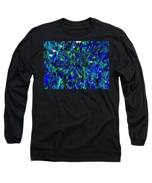 Blue Blades Of Grass Long Sleeve T-Shirt