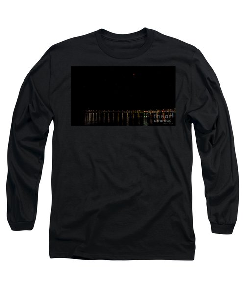 Blue Blood Moon 2018 Ventura, California Pier Long Sleeve T-Shirt
