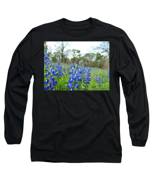 Blue Bonnet Explosion II Long Sleeve T-Shirt
