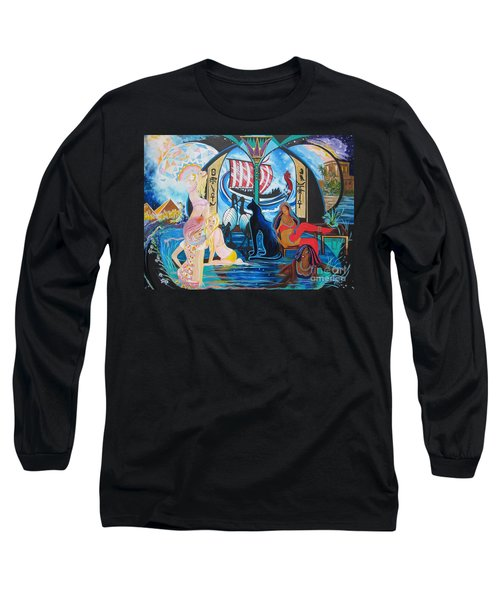 Five Celestial Celebrations                                        Blaa Kattproduksjoner  -  Long Sleeve T-Shirt