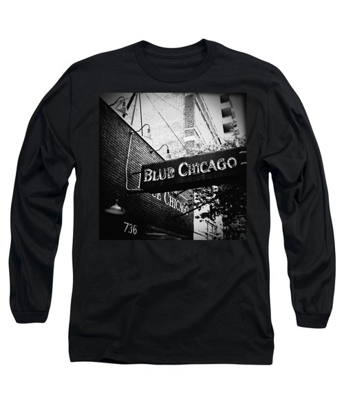 Blue Chicago Nightclub Long Sleeve T-Shirt