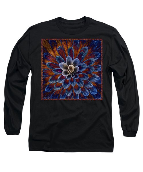 Blue Dahlia Long Sleeve T-Shirt