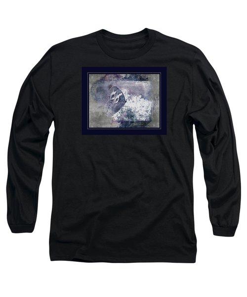 Blue Dreams And Butterflies Long Sleeve T-Shirt by Karen McKenzie McAdoo