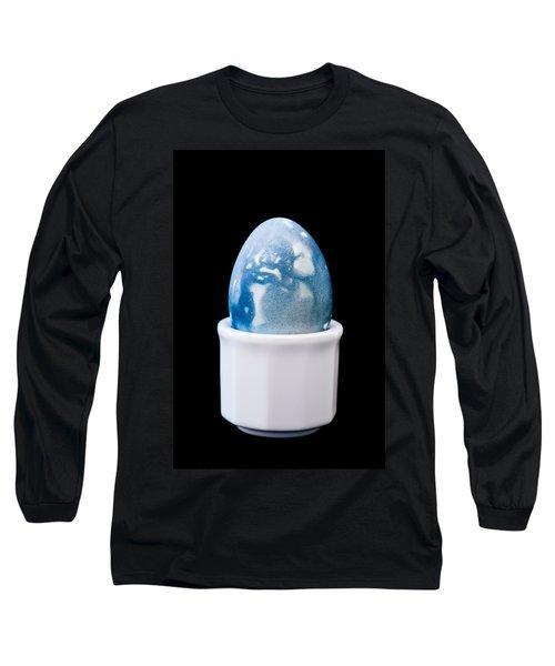 Long Sleeve T-Shirt featuring the photograph Blue Egg by Ari Salmela
