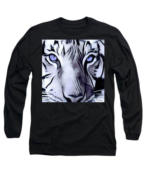 Blue Eyed Tiger Long Sleeve T-Shirt