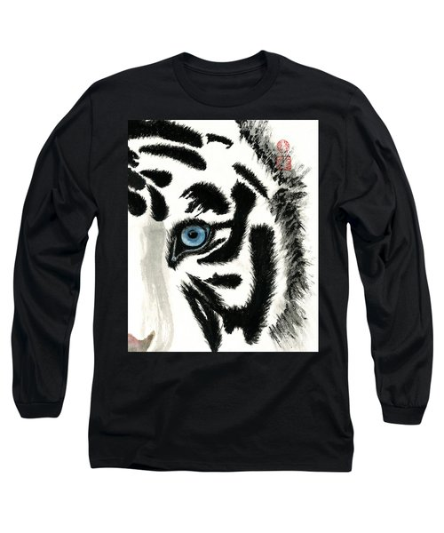 Blue-eyed Tiger Long Sleeve T-Shirt