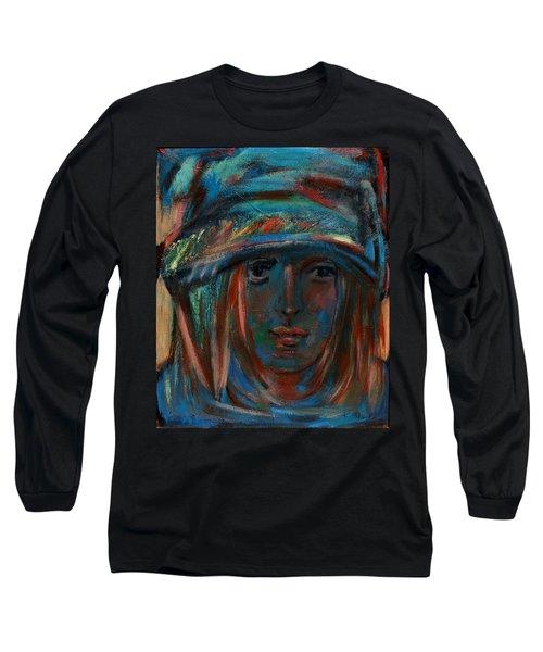Blue Faced Girl Long Sleeve T-Shirt