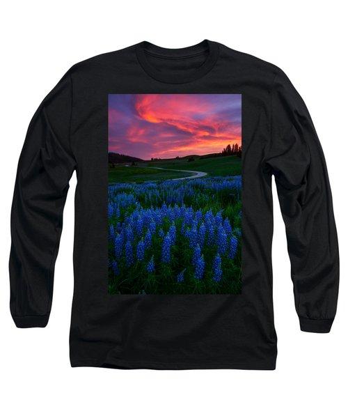 Blue Flame Long Sleeve T-Shirt