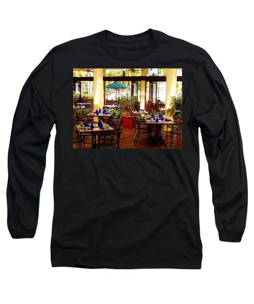 Blue Glass Settings Long Sleeve T-Shirt