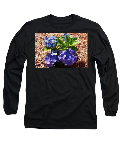 Long Sleeve T-Shirt featuring the digital art Blue Heaven by Barbara S Nickerson