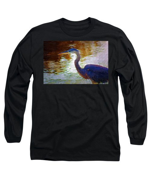 Long Sleeve T-Shirt featuring the photograph Blue Heron 2 by Donna Bentley