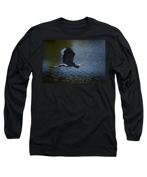 Blue Heron Skies  Long Sleeve T-Shirt