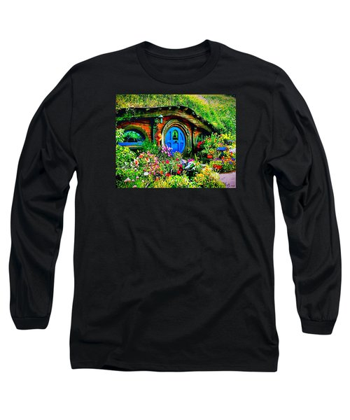 Blue Hobbit Door Long Sleeve T-Shirt
