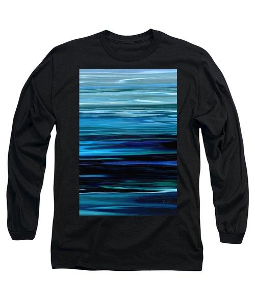 Blue Horrizon Long Sleeve T-Shirt by Rabi Khan