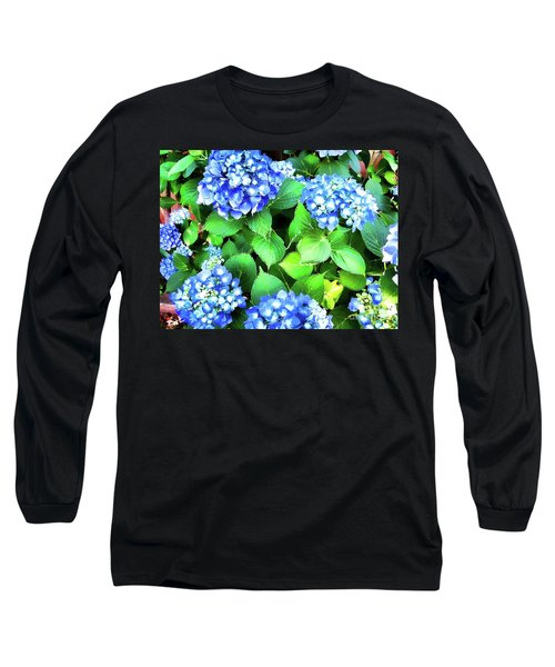 Blue Hydrangea Long Sleeve T-Shirt