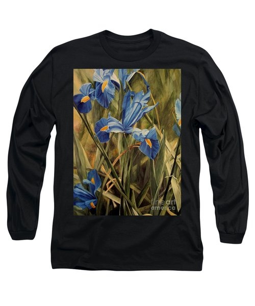 Blue Iris Long Sleeve T-Shirt by Laurie Rohner