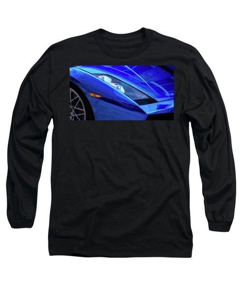Blue Lamboghini Long Sleeve T-Shirt