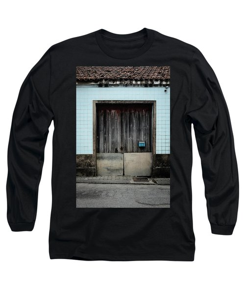 Long Sleeve T-Shirt featuring the photograph Blue Mailbox by Marco Oliveira