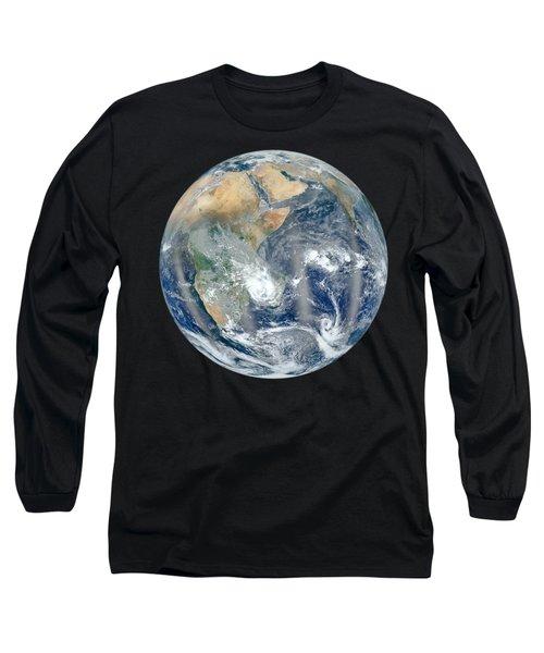 Blue Marble 2012 - Eastern Hemisphere Of Earth Long Sleeve T-Shirt