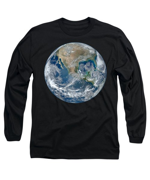 Blue Marble 2012 Planet Earth Long Sleeve T-Shirt by Nikki Marie Smith