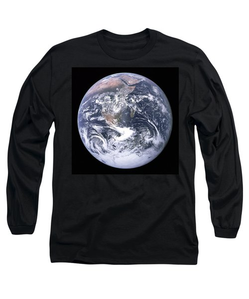 Blue Marble - Image Of The Earth From Apollo 17 Long Sleeve T-Shirt