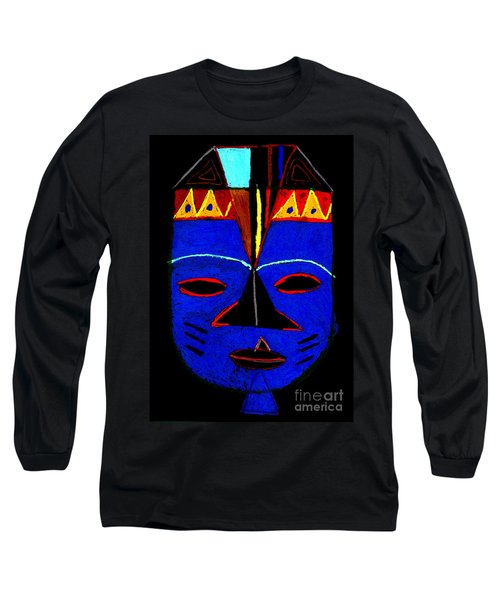 Blue Mask Long Sleeve T-Shirt