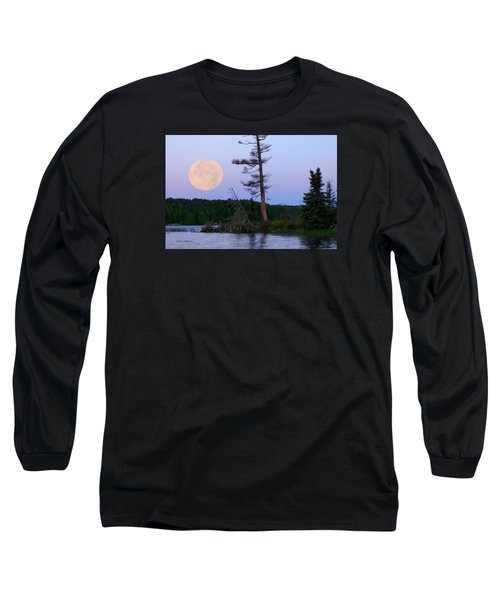 Blue Moon At Sunrise Long Sleeve T-Shirt