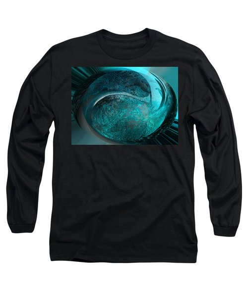 Long Sleeve T-Shirt featuring the digital art Blue Moon by Kevin Caudill