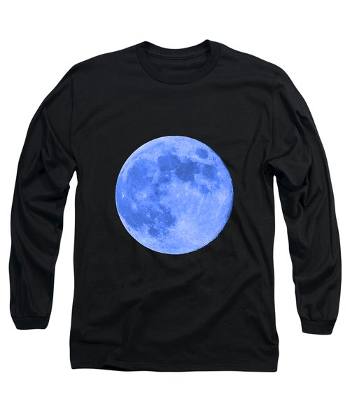 Blue Moon .png Long Sleeve T-Shirt by Al Powell Photography USA