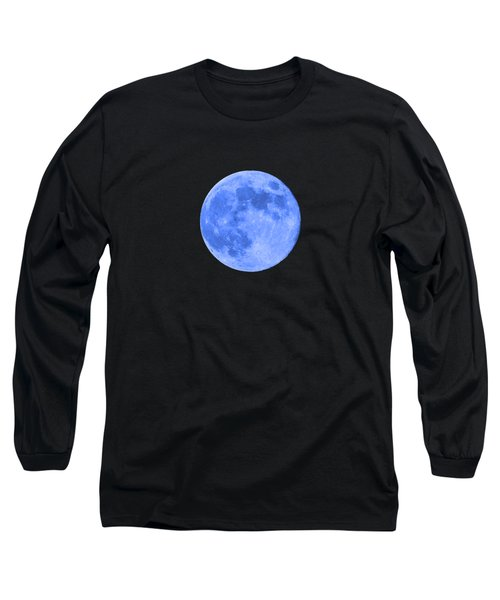 Blue Moon .png Long Sleeve T-Shirt