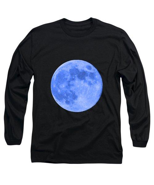 Blue Moon .png Long Sleeve T-Shirt