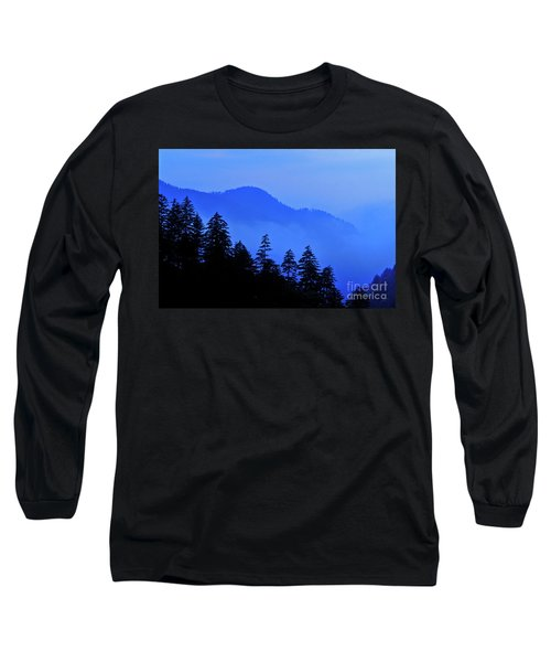 Long Sleeve T-Shirt featuring the photograph Blue Morning - Fs000064 by Daniel Dempster