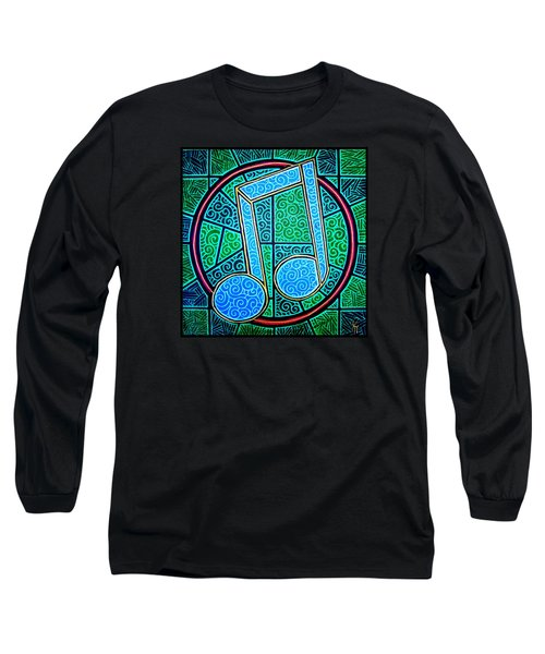 Long Sleeve T-Shirt featuring the painting Blue Note by Jim Harris