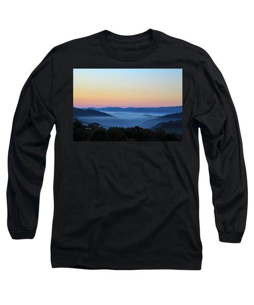 Blue Ridge Dawn Long Sleeve T-Shirt by Dale R Carlson