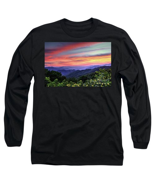Blue Ridge Mountain Color Long Sleeve T-Shirt