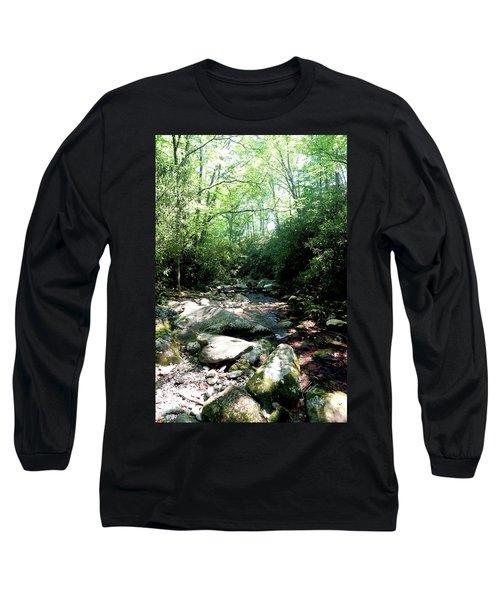 Long Sleeve T-Shirt featuring the photograph Blue Ridge Parkway Stream by Meta Gatschenberger