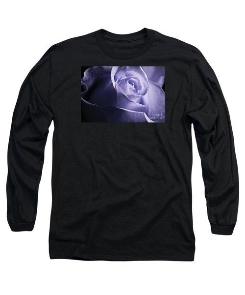 Blue Rose Long Sleeve T-Shirt by Micah May