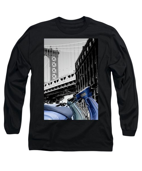 Blue Scooter Long Sleeve T-Shirt