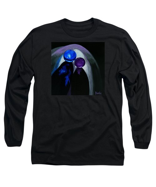 Blue Shooter Amethyst Aggie Long Sleeve T-Shirt by Susan Duda