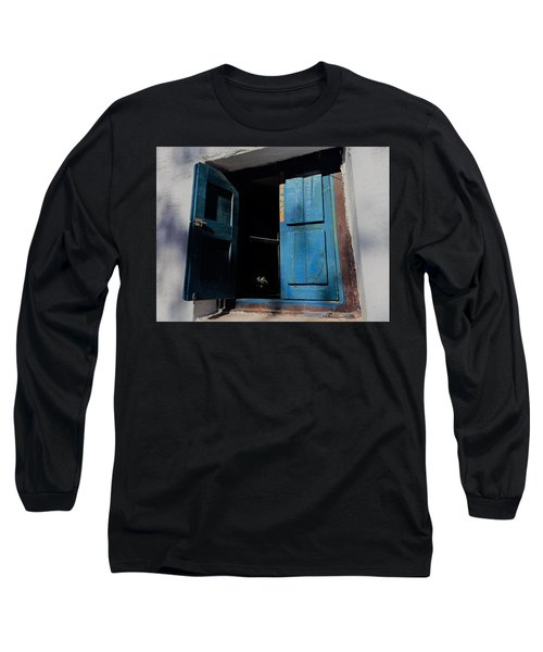 Blue Shutters Long Sleeve T-Shirt