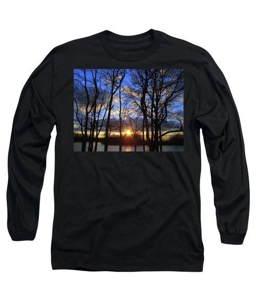 Long Sleeve T-Shirt featuring the photograph Blue Skies And Golden Sun by J R Seymour